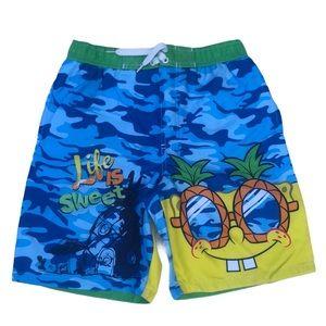 Spongebob Square Pants Classic Graphic Swim Shorts